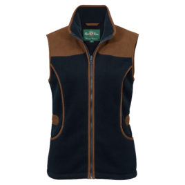 Alan Paine Alysham Ladies Shooting Gilet – Dark Navy & Green