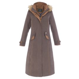 Alan Paine Berwick Ladies Long Waterproof Coat – Navy or Brown