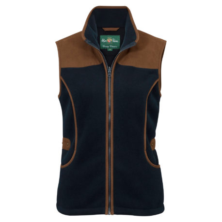 Alan Paine Aylsham Ladies Shooting Waistcoat in Dark Navy