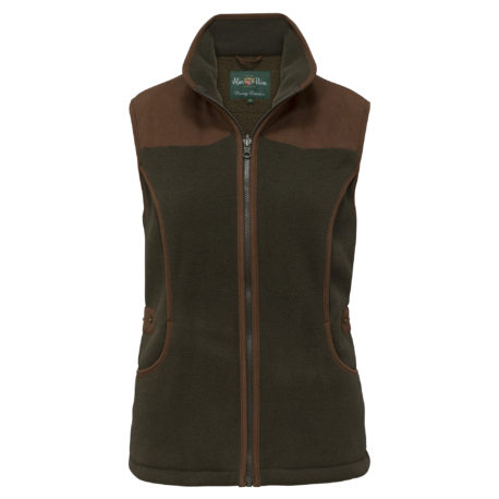 Alan Paine Aylsham Ladies Shooting Waistcoat in Green