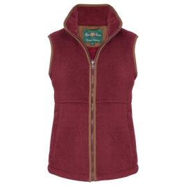 Alan Paine Alysham Ladies Fleece Gilet – Bordeaux Red & Navy