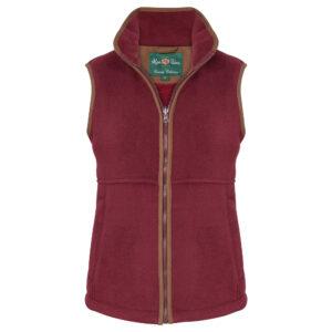 Alan Paine Alysham Ladies Fleece Gilet – Red or Navy