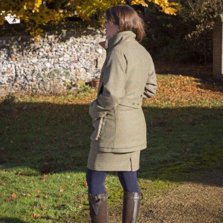Alan Paine Combrook Ladies Coat in Juniper Back View
