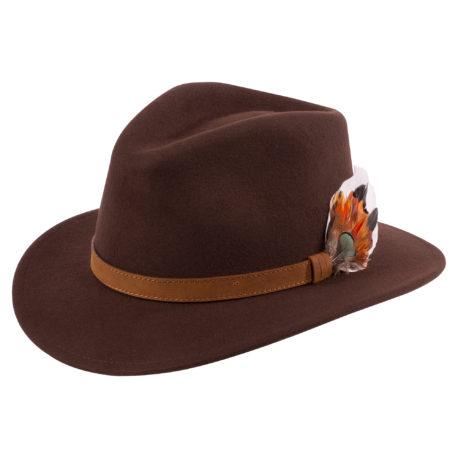 Alan Paine Richmond Unisex Felt Hat in Brown