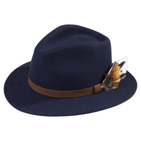 Alan Paine Richmond Unisex Felt Hat in Navy