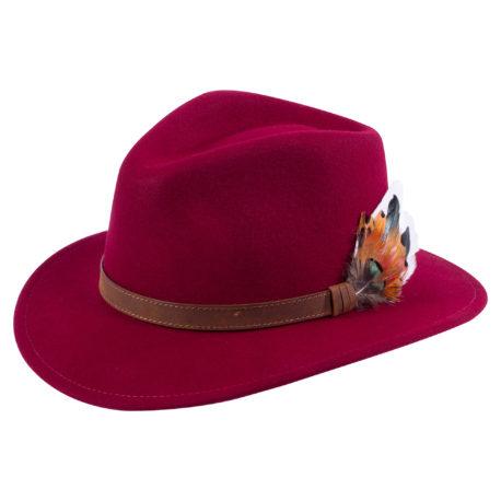 Alan Paine Richmond Unisex Felt Hat in Wine