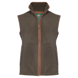 Alan Paine Alysham Mens Fleece Waistcoat / Gilet – Green / Olive