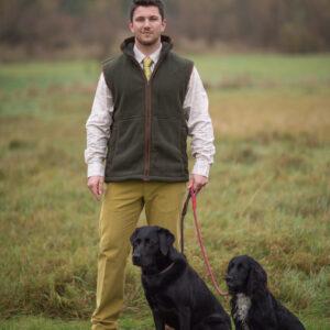 Alan Paine Alysham Mens Fleece Waistcoat / Gilet – Green / Olive
