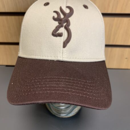 Browning Cream & Brown Cap with brown logo