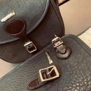 Water Buffalo Leather Cartridge Bag