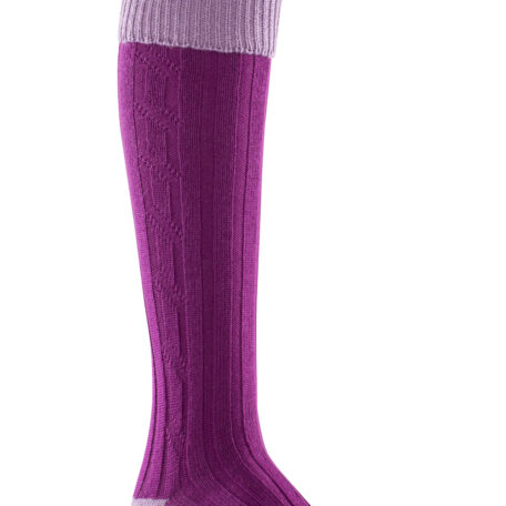 Alan Paine Ladies Socks Lilac & Magenta SK30