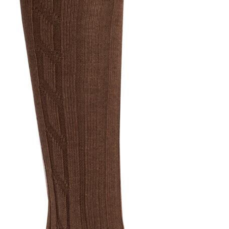Alan Paine Men's Sock in Red & Brown