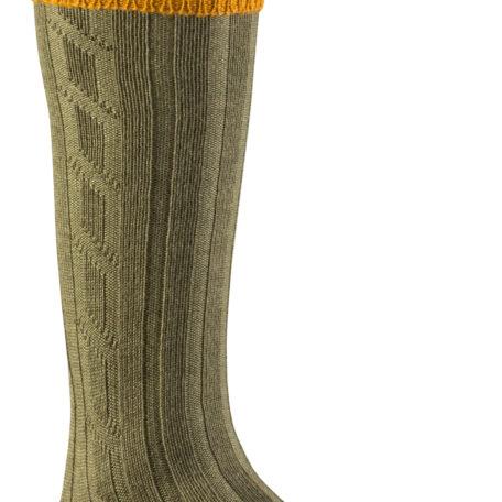 Alan Paine Men's Socks Ochre & Olive SK19