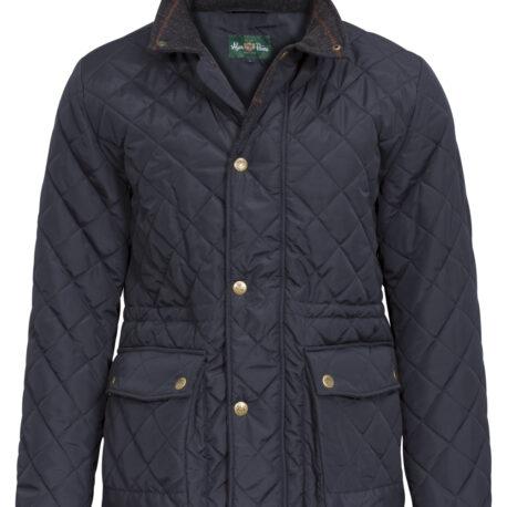 Alan Paine Surrey Men's Quilted Jacket in Navy