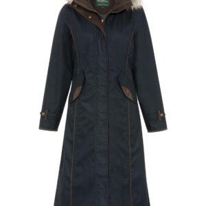 Alan Paine Fernley Ladies Long Coat in Navy
